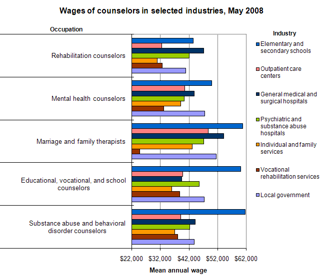 mental health counselors salary